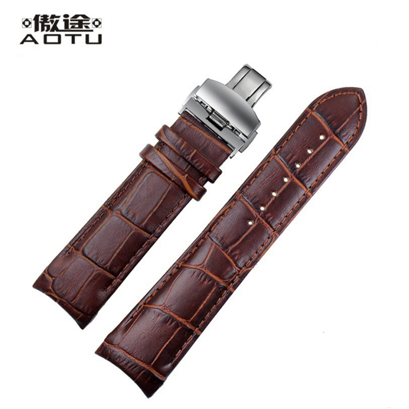 Genuine Leather Watchbands For Tissot COUTURIER T035 Ladies Watch Bracelet Belt Vintage Watch Band For Men Clock 22/23/24mm суточное реле времени orbis alpha d ob270023