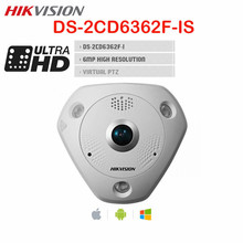 Hikvision Fisheye PTZ PoE CCTV Camera 6MP DS-2CD6362F-IS CMOS Day Night Audio 360 degree View Built-in Mic SD Card IP Camera