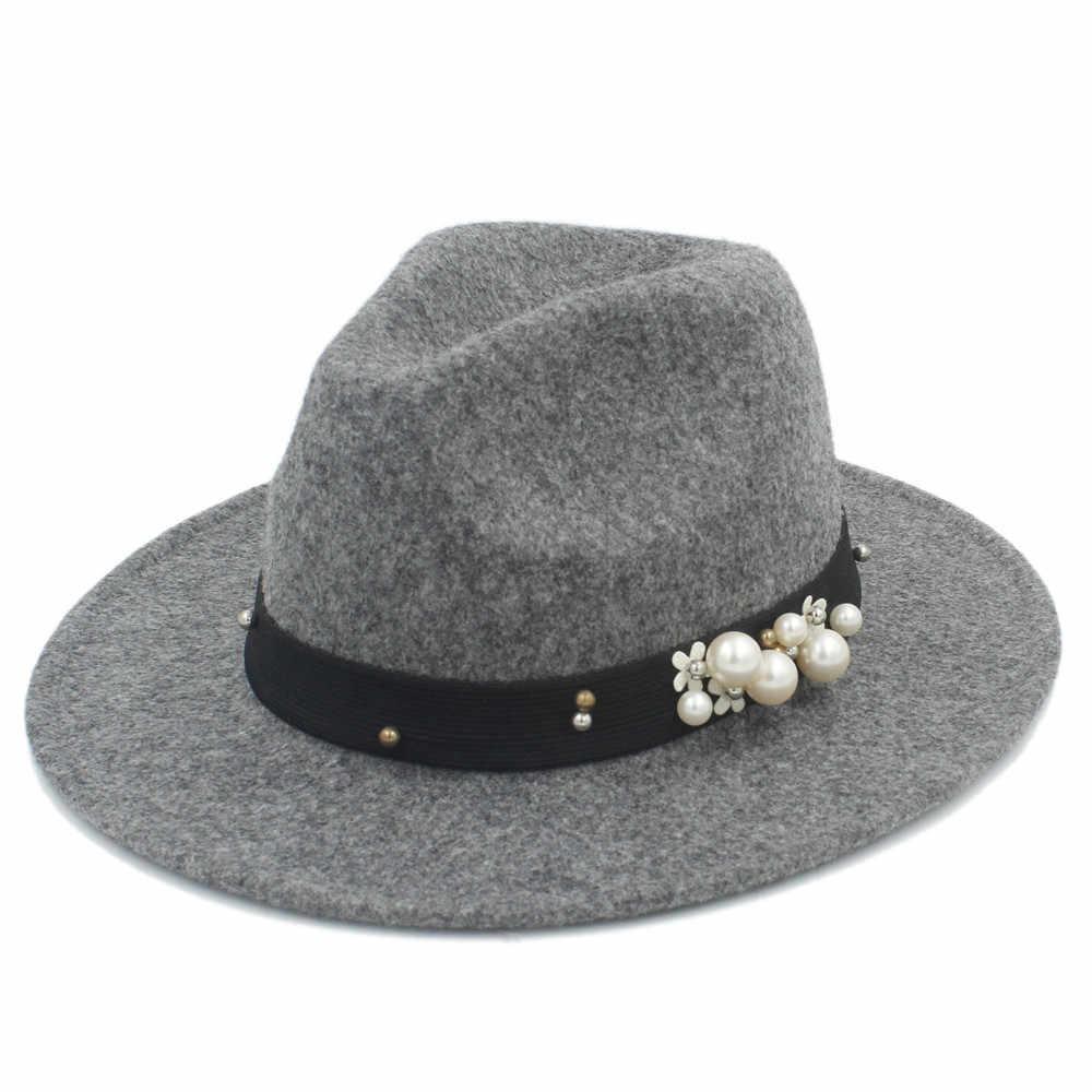 Модная мужская и женская шляпа-фетровая шляпа из 100% шерсти, для осени и зимы, с широкими полями, подходит для мужчин и женщин, 20