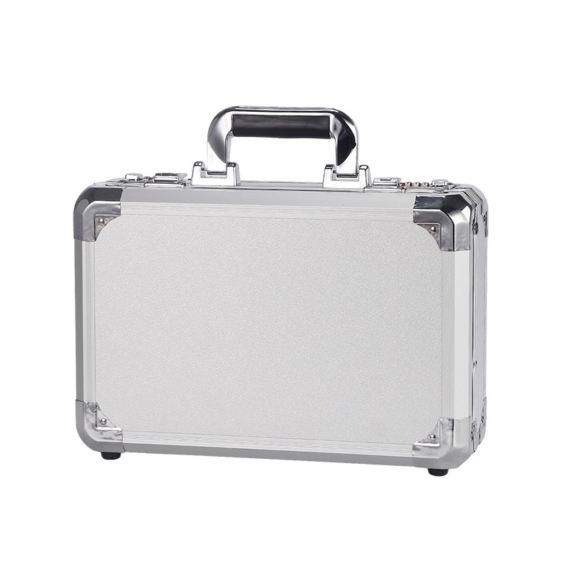 Tool Box Portable Aluminium Alloy Storage Case Suitcase Travel Impact Resistant Safety Instrument Case With Pre-cut Foam Lining