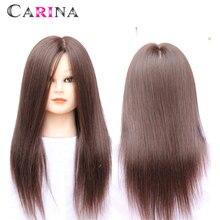18 100% Human Hair hairdresser Training Mannequin Dummy head Cutting Styling Practice plastic female mannequin hair