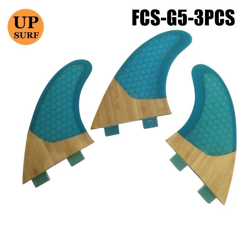 Quilhas FCS Fin G5 Bamboo Base Surfboard Fin FCS Fins  Thruster Fins