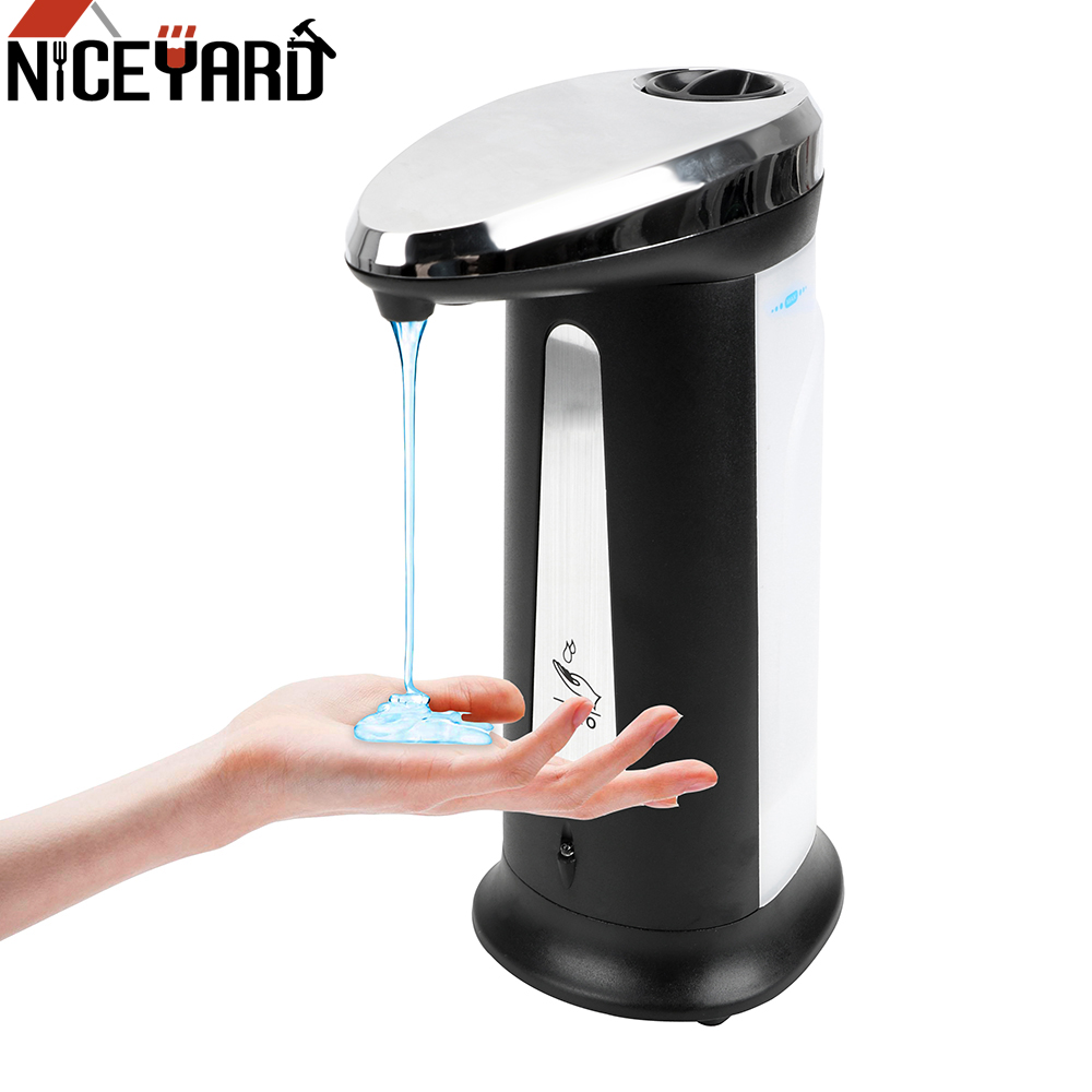 400Ml Intelligent Sensor Automatic Liquid Soap Dispenser Hands Cleaning Sanitizer Dispenser Touchless Bathroom Accessories