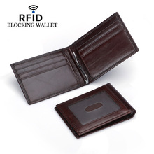 все цены на Weduoduo Top Quality Wallet Men Money Clip Mini Wallets Male Vintage Style Brown Black Purse Genunie Leather business wallet онлайн