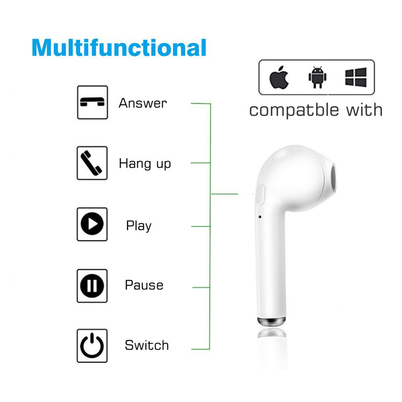 Wireless Bluetooth Stereo Earbuds In-Ear AirPods 1