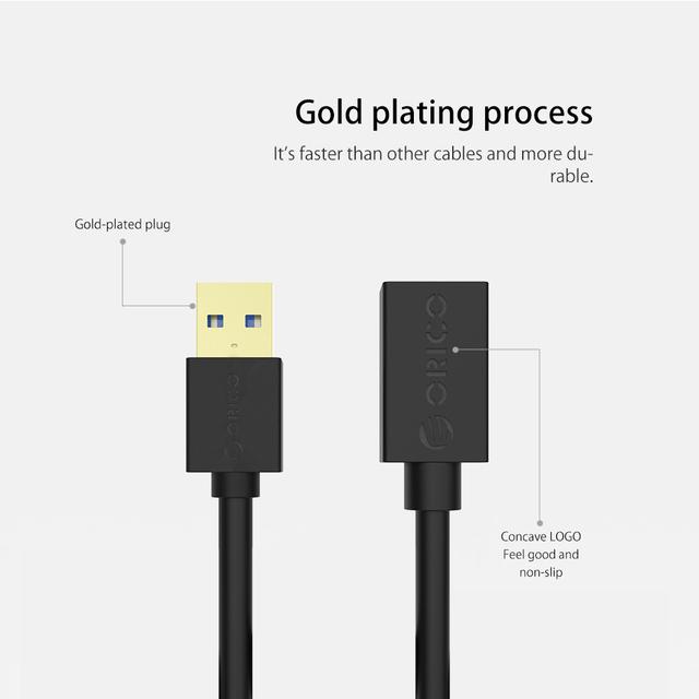 USB3.0 AM to AF Extension Cable 1.0/1.5 Meter Black/White for USB Keyboard, Mouse, U-disk, Card Reader, etc.