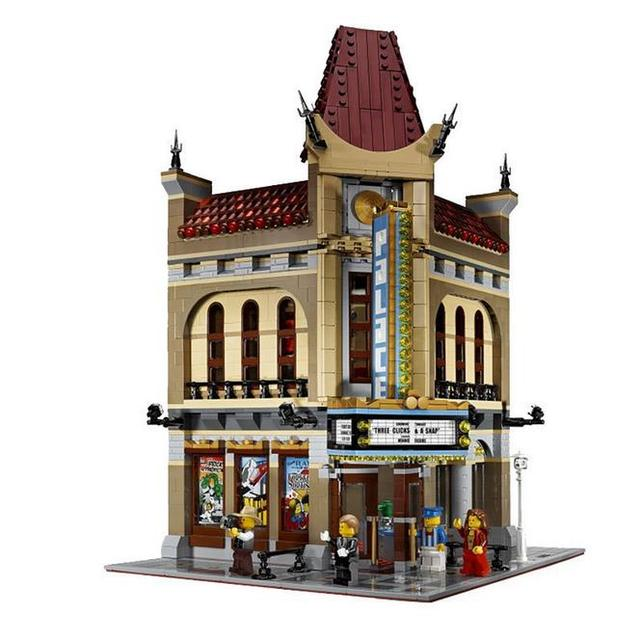 15006 2354pcs City Street Palace Cinema Model Building Blocks Set Bricks Toys Compatible with  10232 Toy For Children