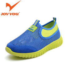 JOYYOU Brand Child Casual Shoes Suede Leather Air Mesh Kids Shoes Big Boys Girls Slip On