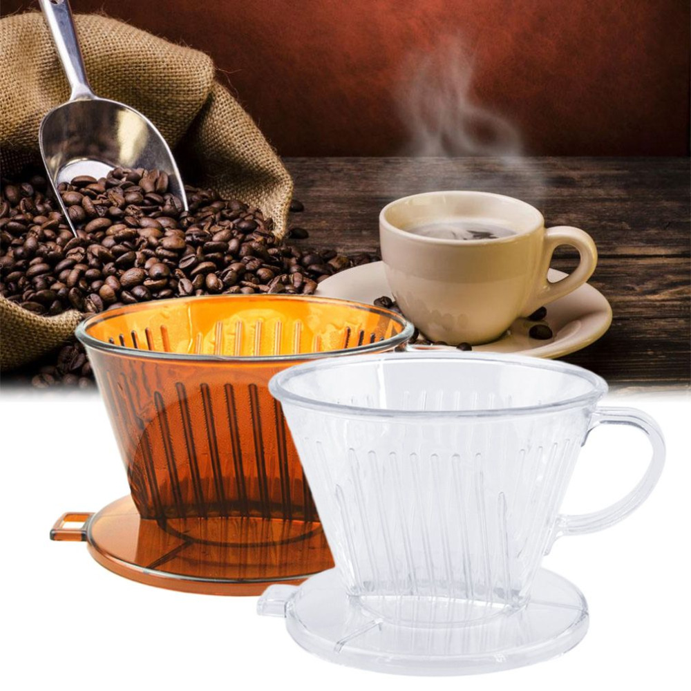 2017 PP Resin Coffee Filter Cup Coffee Drip bowls Manually Follicular Filters Coffee Tea Tools