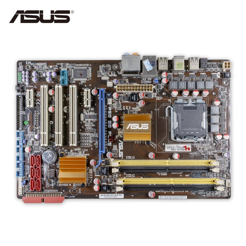 Asus P5Q SE PLUS Original Used Desktop Motherboard P45 Socket LGA 775 DDR2 16G SATA2 USB2.0 ATX