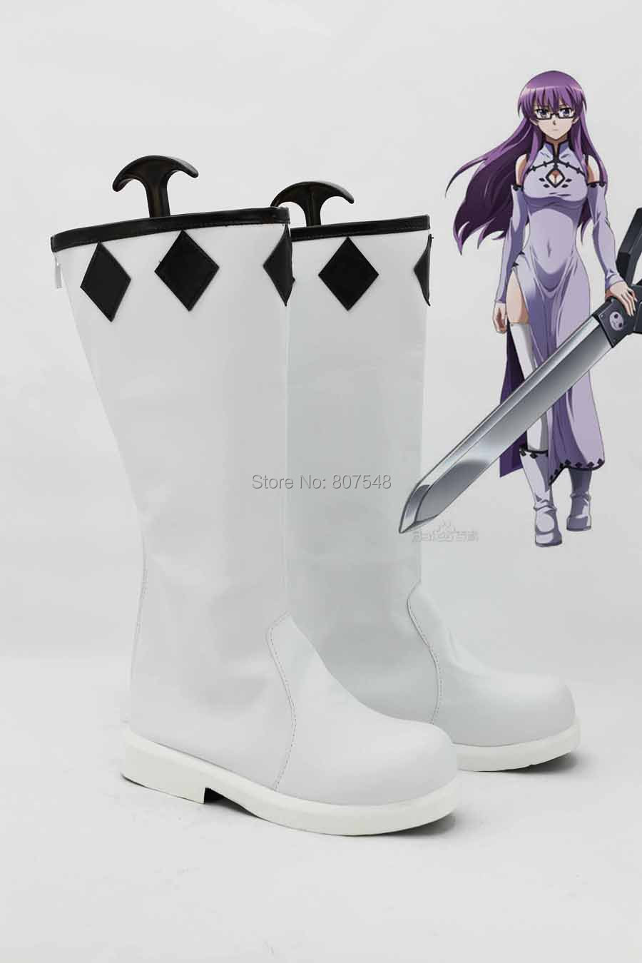 Akame ga KILL Anime Cosplay Women White Boots Girls Shoes Custom Costume Boots New Arrival