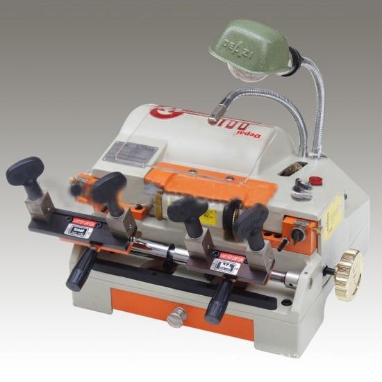 100c locksmith tools drilling key cutting machine multifunction key copy machine double head horizontal can - Color Copy Machine