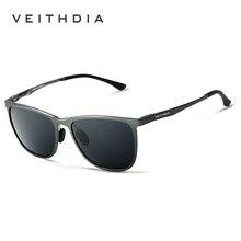 Retro hombres de la Marca de gafas de Sol De Aluminio Y Magnesio VEITHDIA Polarizadas Lente de Conducción Gafas Accesorios Gafas de Sol Para Los Hombres 6623