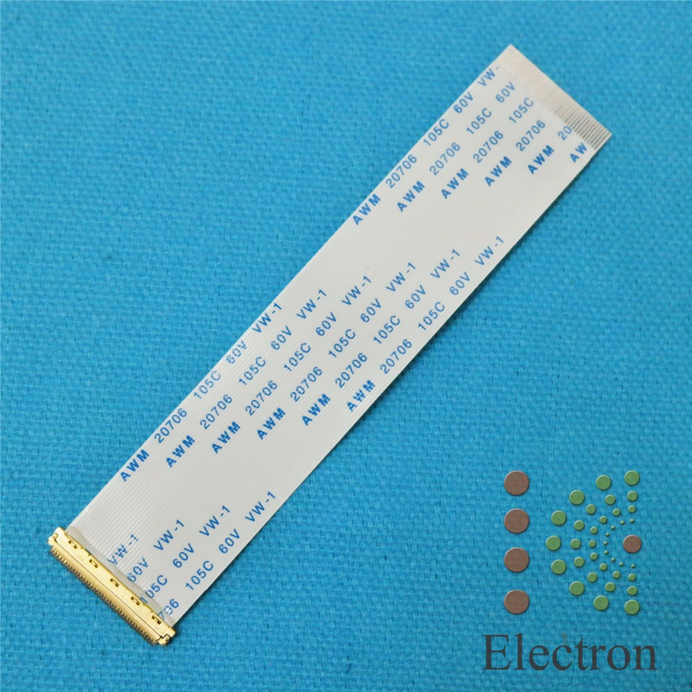 2pcs I-PEX 20454-030 FFC FPC Flexible Flat Ribbon Cable 30 Pin 0.5mm pitch for 10'' 14.1''15.6'' 17'' EDP Panel Same Direction ffc fpc jumper cables 1 0mm pitch 16pos forward direction flexible flat cable 16pin 200mm 20cm 100pcs