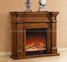 decorative heating fireplace set wooden mantel W120cm electric fireplace insert burner room warmer LED optical flame deocr
