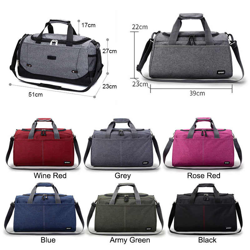 bb9345209f0b ... Unisex Gym Bag Travel Outdoor Shoulder Bags Handbag Tote Sports Bags  Duffel Men Crossbody Large Clothes ...