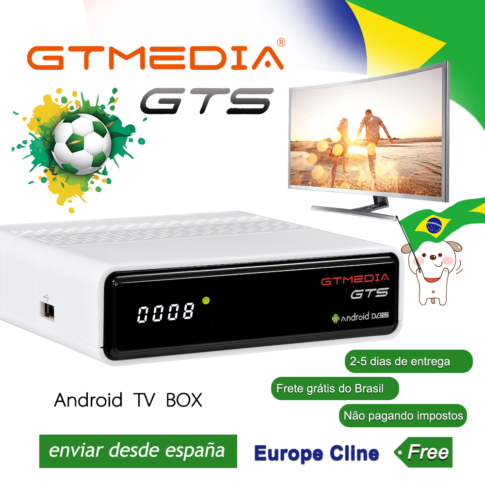 GTmedia GTS Android 6.0 4K Smart TV BOX Amlogic S905D Combo DVB-S2 Satellite Receiver 2G/8GB BT4.0 Set top box cccam From BrazilGTmedia GTS Android 6.0 4K Smart TV BOX Amlogic S905D Combo DVB-S2 Satellite Receiver 2G/8GB BT4.0 Set top box cccam From Brazil