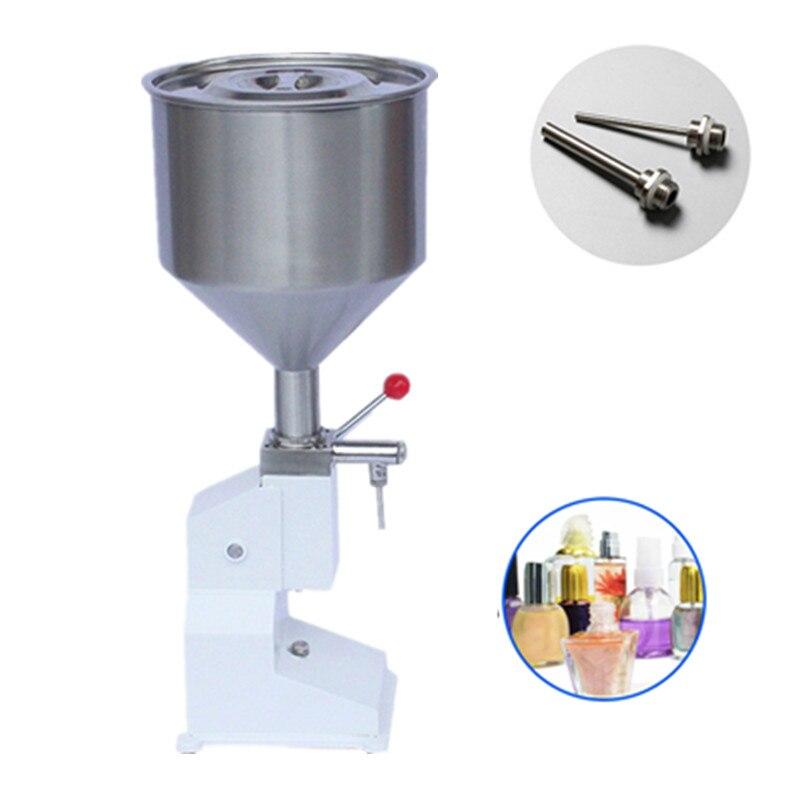 Manual Paste Piston Filling Machinery Liquid Filler Equipment Food Chemical Medicals Beverage Bottle Bottling Packing Machine