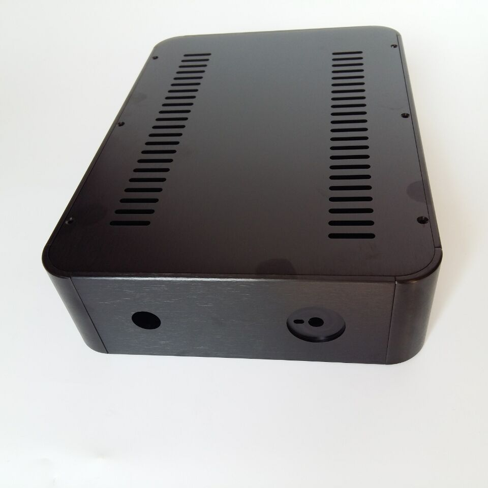 E-010 QUEENWAY 2107 round corner power amplifier CNC All aluminum Chassis Case Box 212.5mm*70mm*294mm 210*70*294mm