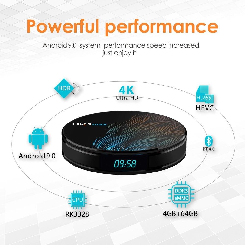 Image 3 - DQiDianZ 5 sztuk/partia Android 9.0 HK1 MAX Smart TV Box 2.4G/5G Wifi RK3318 Quad Core 4K HD Mini dekoder BT 4.0 HK1MAX TV BoxDekodery STB   -