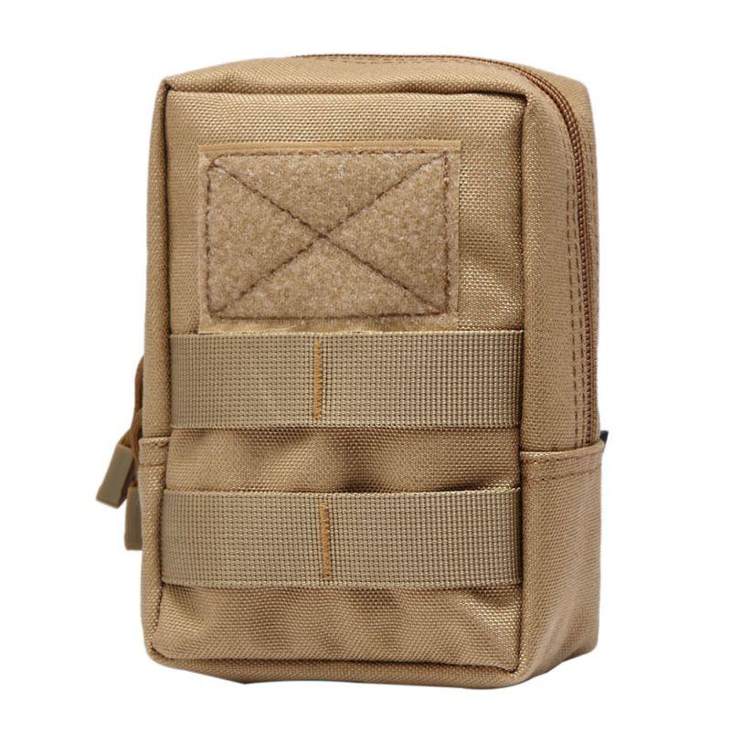 Taktikal Molle Bag 600D Nylon Pouch Portable Outdoor Mobile Wallet Wallet Perjalanan Sukan Pinggang Pinggang Sukan
