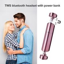Nueva TWS K2 Mini auricular Bluetooth Inalámbrico Caja De Recarga Lápiz Labial earpods Estéreo En La Oreja Auriculares Auriculares para iPhone Samsung