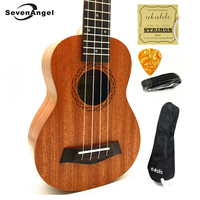 SevenAngel Ukulele Concert Soprano Tenor Mini Acoustic Travel Guitar Electric Ukelele Guitarra String Instruments W Pick