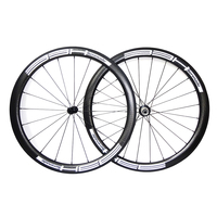 700c bike wheels Width 25mm black road bike wheels china Carbon Wheelset 45mm Carbon Clincher Wheelset Bicycle rims