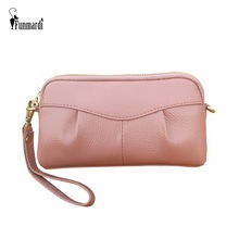 FUNMARDI Female Clutch Bag Genuine Leather Crossbody Bags For Women Shoulder Bag Small Day Clutches Bag Messenger Chain WLHB1983