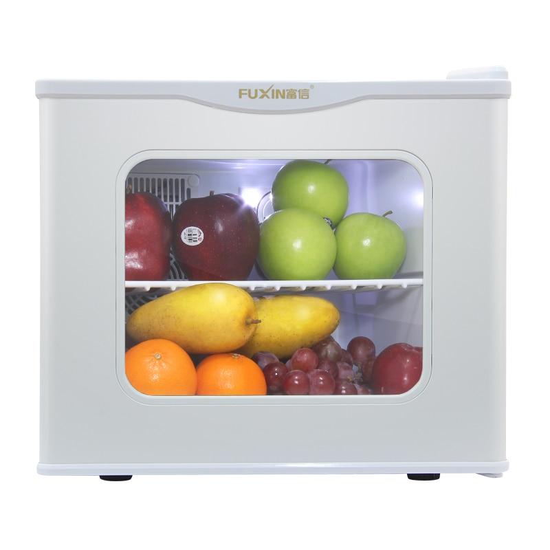 17L Portable Mini Fridge Hot And Cold Dual-use Mini Refrigerator Small Glass Door Food Heating 110v 220v Refrigerator Cooler Box
