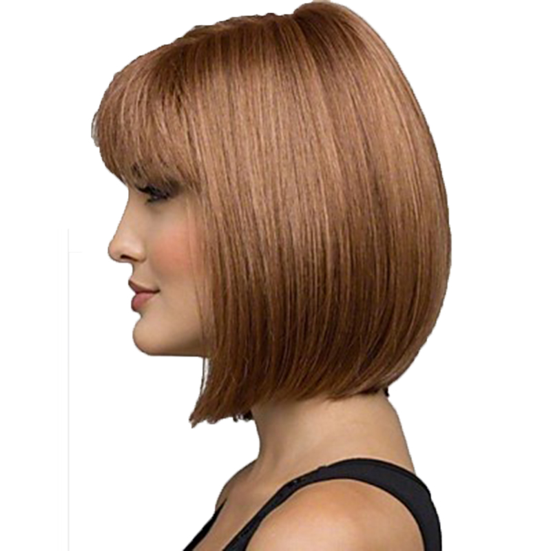 Image 3 - HAIRJOY Women Synthetic Wigs Brown Short Straight Bob Hairstyle  Heat Resistant Full Hair Wig  Freeshipping-in Synthetic None-Lace  Wigs from Hair Extensions & Wigs