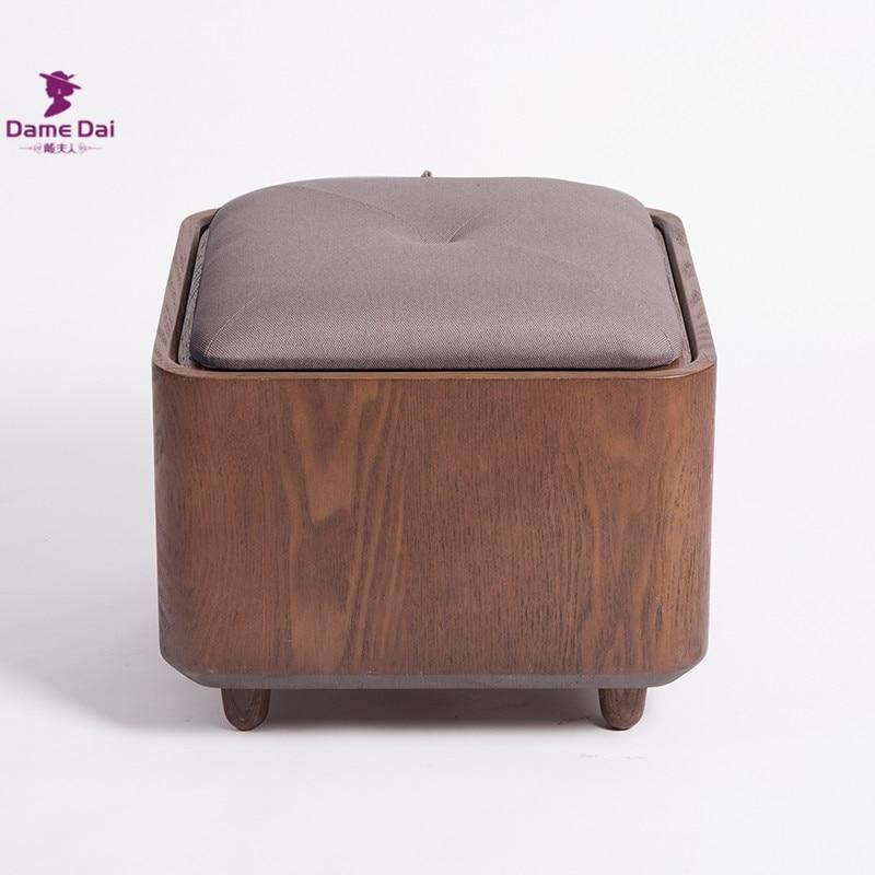 Perfecto Almacenamiento De Café Negro Otomana Muebles De Mesa ...