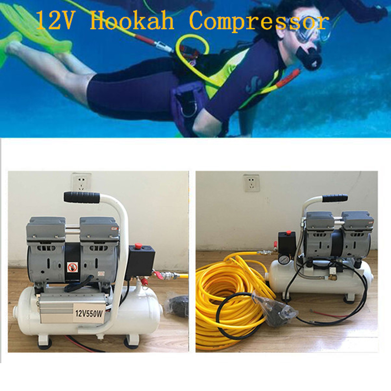 Maisi Diving Equipment 12V Air Compressor For Scuba Diving Hookah System  With 30m Pipe And Silicone Respirator