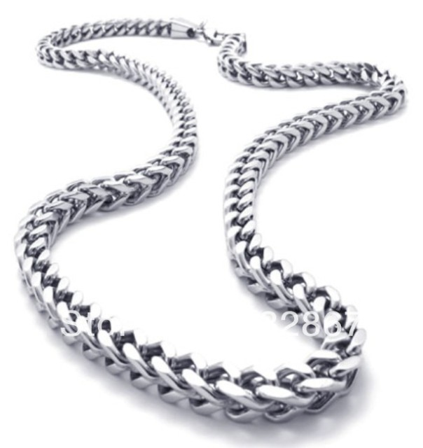 Urban Jewelry Mechanic Style Stainless Steel Mens Necklace Link