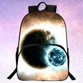 Прохладный 2016 Новый Оксфорд Печати Звездное Небо Черный Babys Bookbag Женщин Рюкзаки Мужчины Мешок Школы Дети Mochila Мальчиков Сумки