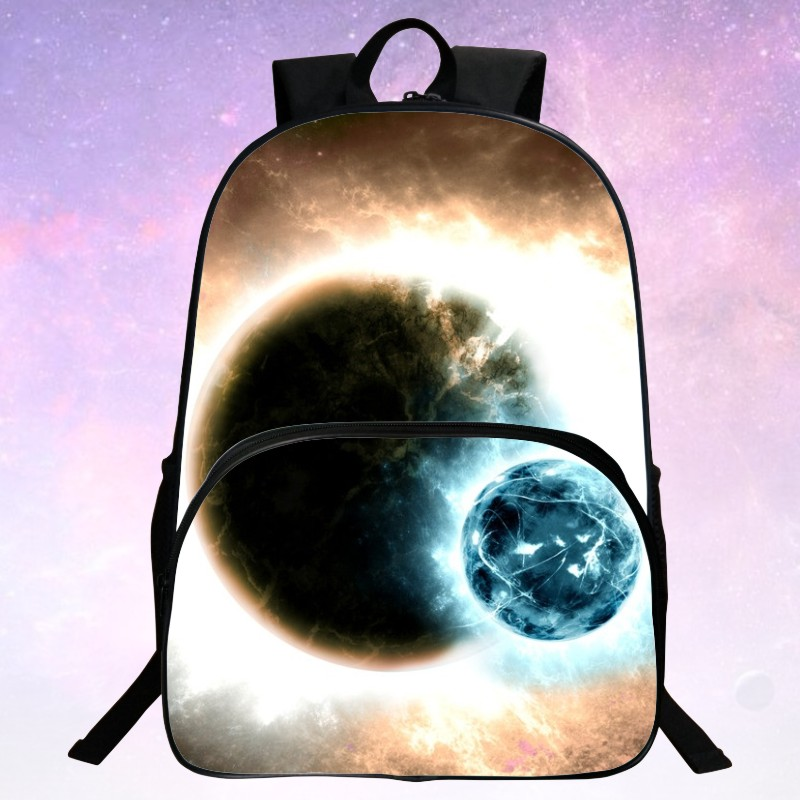 Cool 2016 New Oxford Printing Starry Sky Black Babys Bookbag Womens Backpacks Men School Bag Kids Mochila Boys Bags