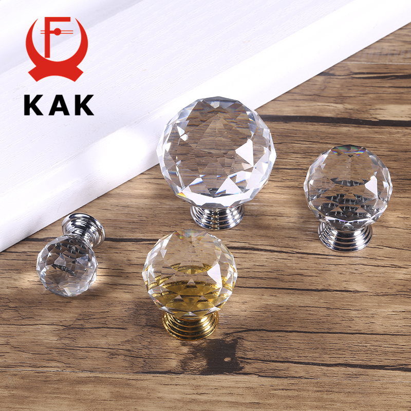 KAK Fashion Crystal Cabinet Knobs And Handles Colorful Crystal Dresser Drawer Knobs Kitchen Handles Furniture Handle Hardware