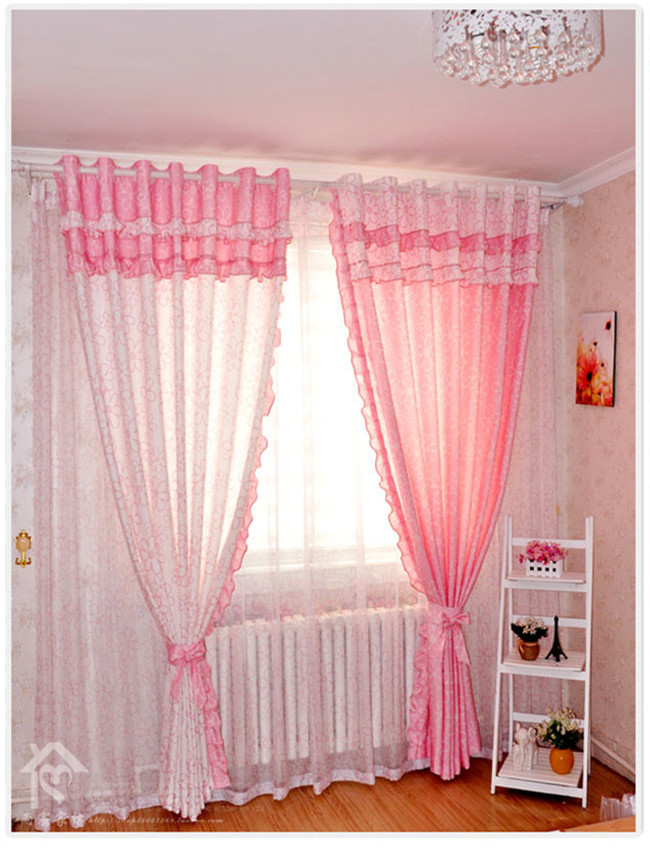 Aliexpress com Buy Free shipping Textiles bedroom curtains Children 39 s curtain  for living room princess. Pink Curtains For Bedroom