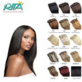 7A 100% Brazilian Virgin Remy Clip In Hair Extensions 7-10 pcs/set Full Head 9 Color Straight Clip in Human Hair Extensions