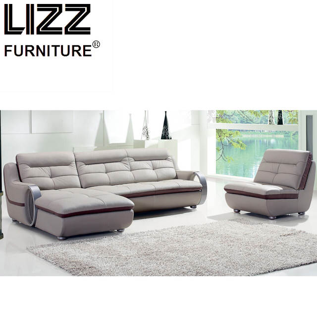 Luxury Furniture Set Genuine Leather Sofas For Living Room ...