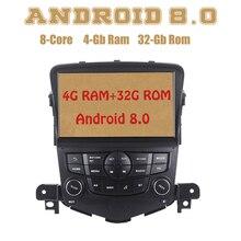 Восьмиядерный PX5 Android 8,0 радио gps для chevrolet cruze с 4G Оперативная память 32G Встроенная память Wi-Fi 4g usb Auto стерео Multimed