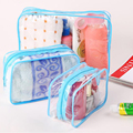 3pcs/set Necessaries Makeup Organizer Toiletry bag for women men Travel kits make up Cosmetic Bags organizador de maquiagem