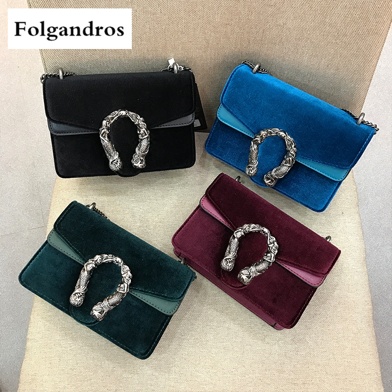 Luxury Brand Casual Women Chain Shoulder Bag Messenger Bags Female Soft Velvet Bag Clutch Dionysus Handbag Purse Bacchus Sac GG недорго, оригинальная цена