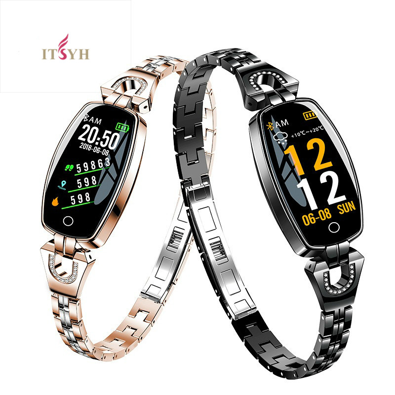ITSYH Smart wristband for women's heart rate blood pressure Fashion Bracelet IP67 waterproof H8 Smartwatch ZH-2026
