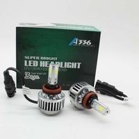 XIANGSHANG High Power White Car Auto LED H8 H9 H11 Fog Head Light Lamp Bulbs 6000K 6600LM 72W COB LED Headlights