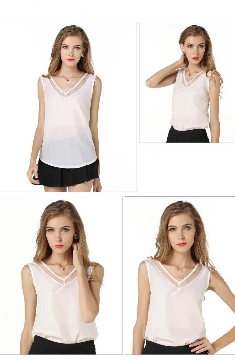 Women 2018 Tumblr Top Limited Summer Front Back V Collar Vest ... 02d6a249c3e2