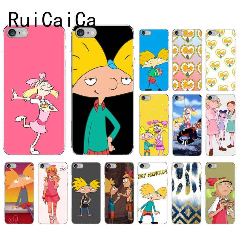 RuiCaiCa Hey Arnold TPU Soft Phone Case Cover for iPhone 8 7 6 6S Plus X XS MAX 5 5S SE XR 10 Cover