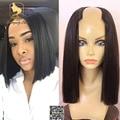 New Fashion U Part Bob Wig Virgin Brazilian Short Bob Straight U Part Human Hair Wigs For Black Women Upart Wig Fast Shipping