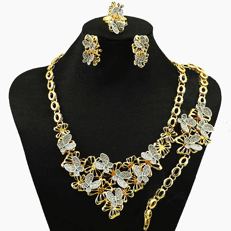 24k gold jewelry sets fine jewelry sets high fashion jewelry set women necklace african jewelry necklace in Jewelry Sets from Jewelry Accessories