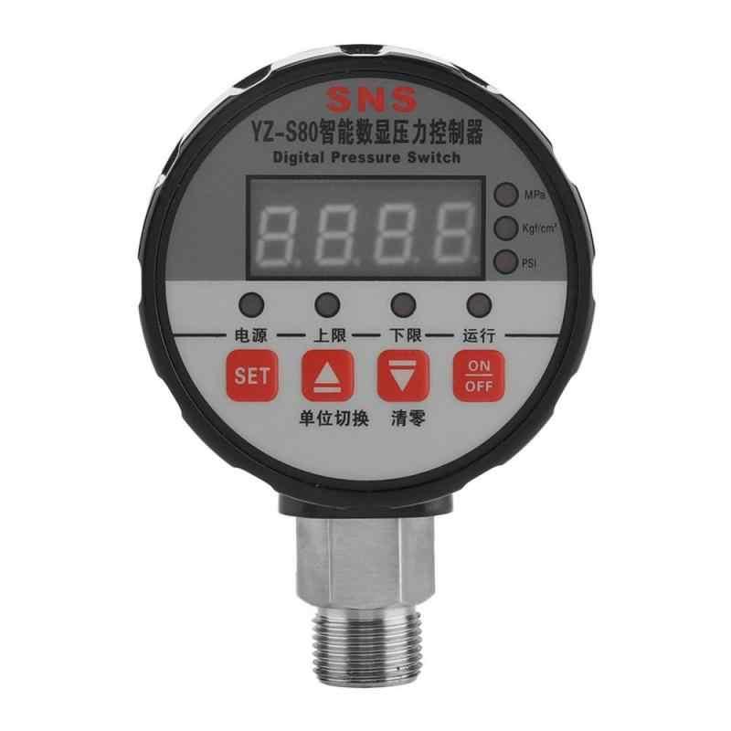 220 v monitores de pressão controlador de pressão digital 0-2mpa 0.5% fs precisão para bomba de água ar por atacado